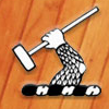 Wood Mallets logo, wood background