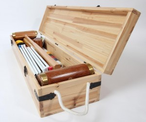 Wood Mallets Hurlingham Croquet Set in Wooden Case
