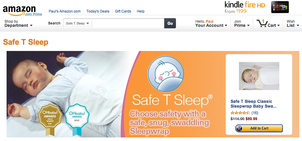 Safe T Sleep Brand Store on Amazon