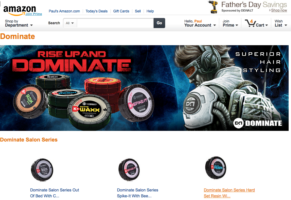 Dominate brand page on Amazon