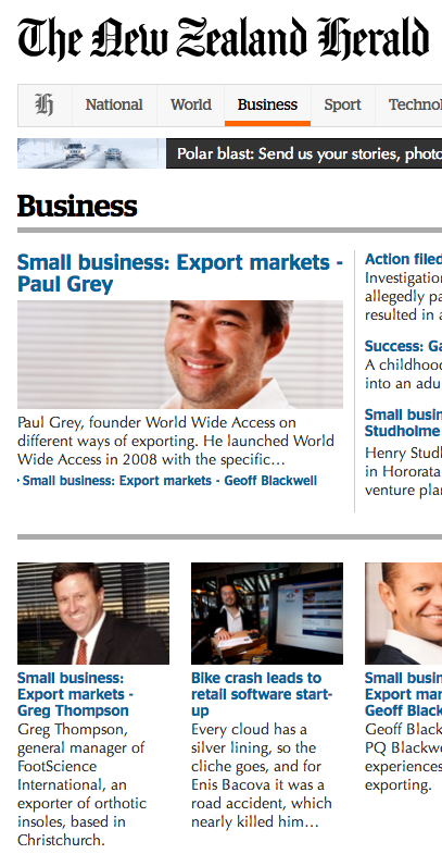 New Zealand Herald Business screenshot Paul Grey interview