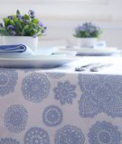 Dandi 6 Seater Tablecloth, Hydrangea Navy