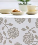 Dandi 6 Seater Tablecloth, Hydrangea Oatmeal