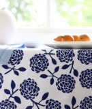 Dandi 10 Seater Tablecloth, Hydrangea Navy