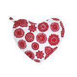 Dandi Heart Oven Mitt With Pocket, Doilie Berry
