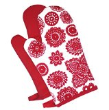 Dandi Set of 2 Oven Mitts, Doilie Berry
