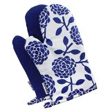 Dandi Set of 2 Oven Mitts, Hydrangea Navy