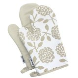 Dandi Set of 2 Oven Mitts, Hydrangea Oatmeal