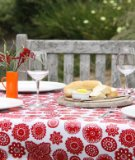Dandi 8 Seater Oilcloth Tablecloth, Doilie Berry