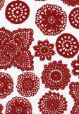 Dandi 6 Seater Oilcloth Tablecloth, Doilie Berry