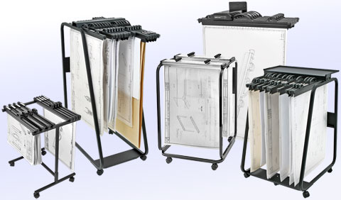 Hang a plan filing systems available in the usa exportx for Architectural plan racks