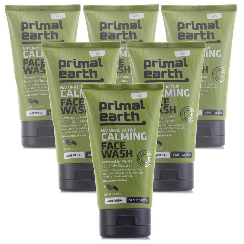 Primal Earth Calming Face Wash 6-Pack