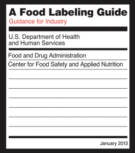 FDA Food Labeling Guide