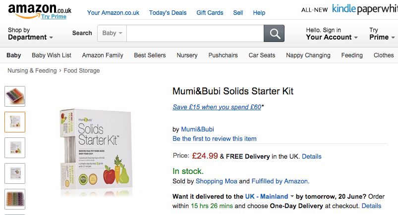 Amazon UK Mumi&Bubi Solids Starter Kit