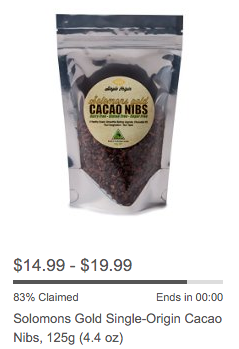 Solomons Gold cacao nibs Amazon Lightning Deal