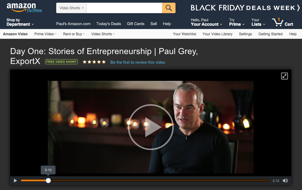 Day One: Stories of Entrepreneurship | Paul Grey, ExportX