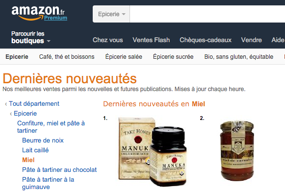 Taku Honey #1 New Honey on Amazon France