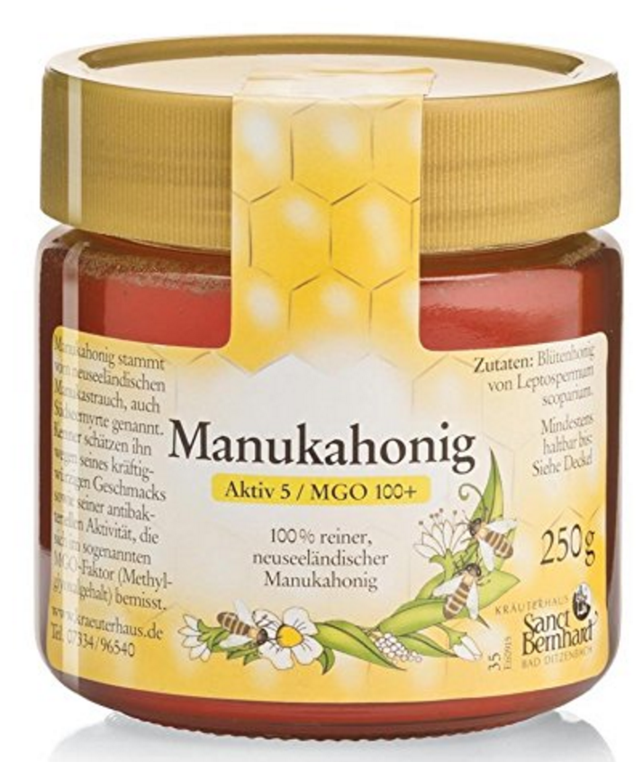 Sanct Bernhard manuka honey 2017 label Aktiv MGO