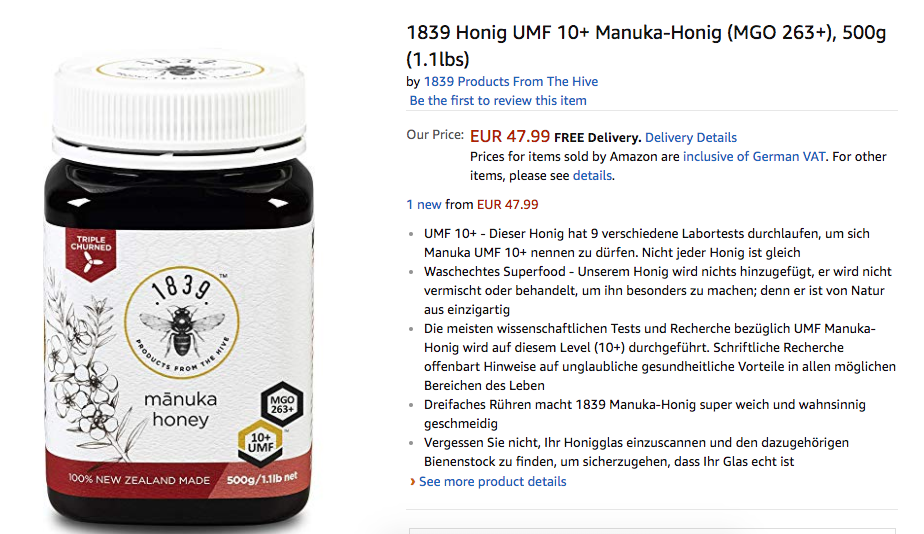 1839 Honey Available in Europe with ExportX | ExportX