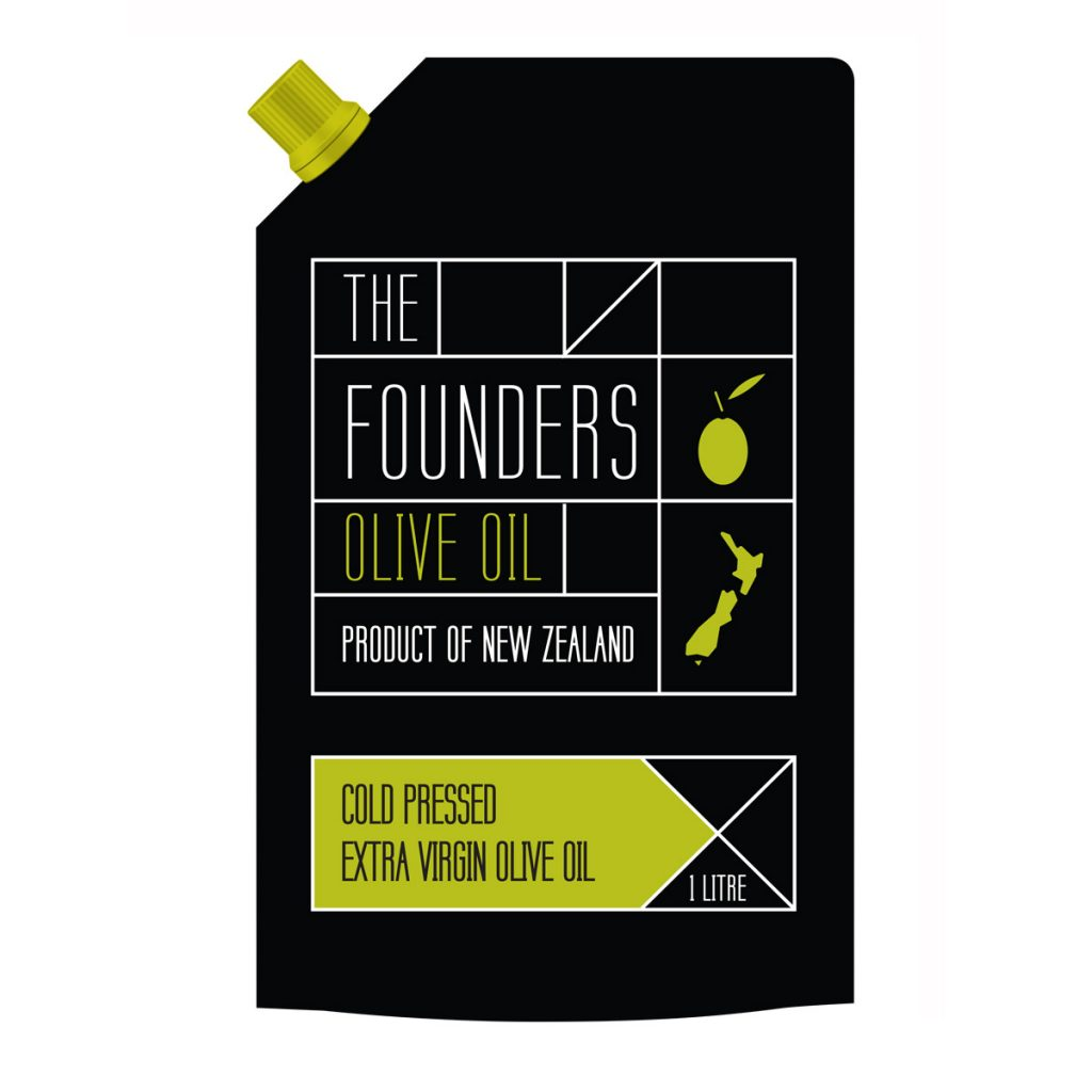 The Founders olive oil pouch with ExportX