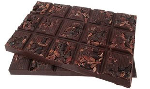 Solomons Gold chocolate with cacao nibs