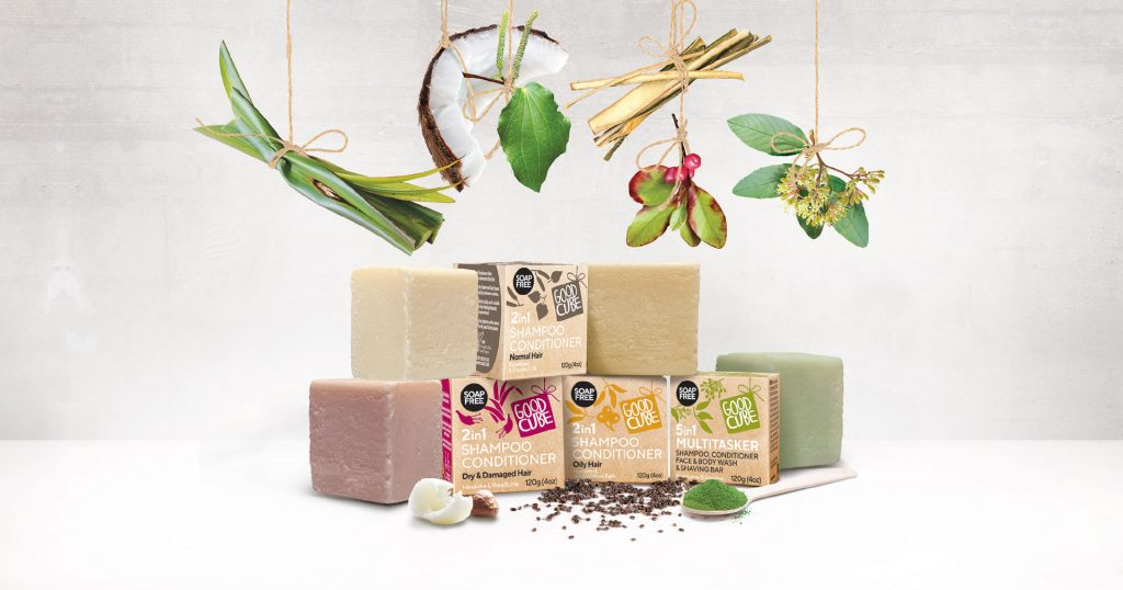 good cube shampoo conditioning bars group photo